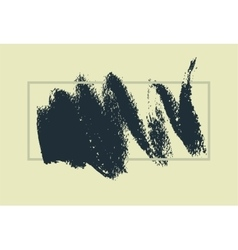 Hand drawn painting brush strokes stain vector image