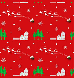 holiday seamless repeating pattern vector image