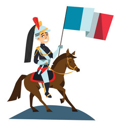 Horse guards parade happy bastille day 14th july vector