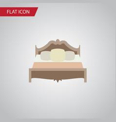 Isolated mattress flat icon bedroom vector