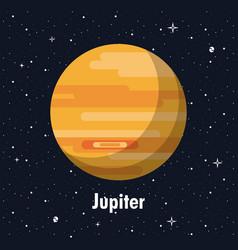 Jupiter planet of milky way vector