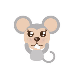 Kawaii mouse animal toy vector