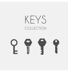 Key icons flat style vector image