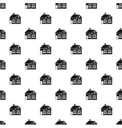 Large single-storey house pattern simple style vector