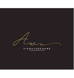 Letter aw signature logo template vector