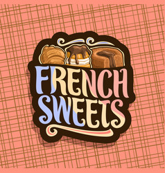 logo for french sweets vector image