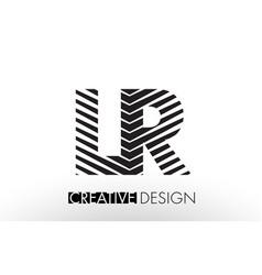 lr l r lines letter design with creative elegant vector image