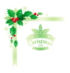 merry christmas and happy new year corner border vector