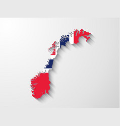 norway map with shadow effect presentation vector image