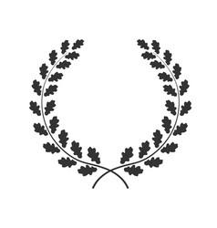 Oak wreath isolated on white vector