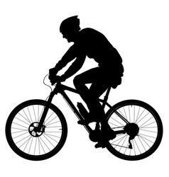old man cyclists on sports mountainbike vector image