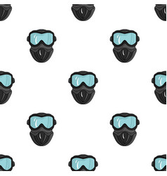 paintball mask icon in cartoon style isolated on vector image