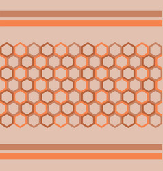 pattern hexagon background vector image