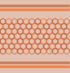 pattern hexagon background vector image