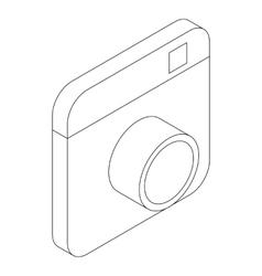 Photo camera icon isometric 3d style vector image