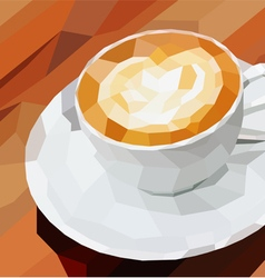Poly cup coffee vector image