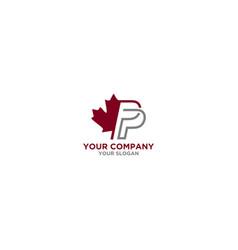 Pp canada insurance logo design vector