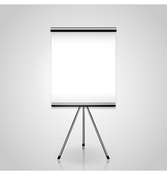 Projector screen tripod vector image