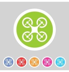 quadrocopter flat icon sign symbol logo label set vector image
