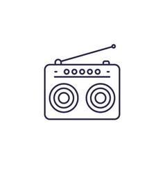 Radio icon in line style vector