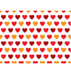 red and orange heart shape pattern vector image