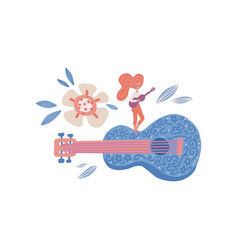 rock stars flat hand drawn character tiny vector image
