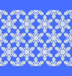 seamless winter background with snowflake motif vector image