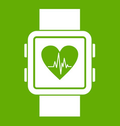 smartwatch icon green vector image
