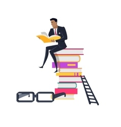 Top of Knowledge Concept in Flat Design vector image