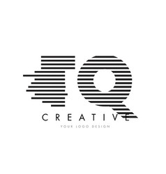 tq t q zebra letter logo design with black and vector image