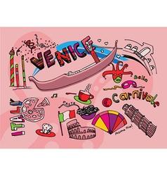 Venice doodles vector
