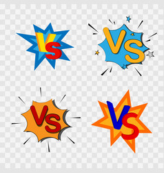 versus or vs confrontation vector image