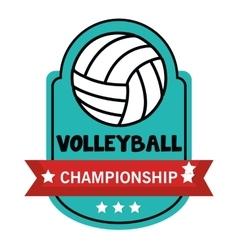 volleyball sport ball emblem vector image