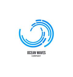 wave logo surfing company icon sea water vector image