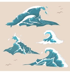 Wave ocean Collection vector