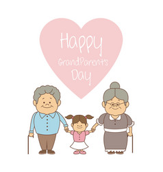 White background with couple holding hand a girl vector