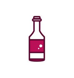 wine bottle cork liquor celebration drink beverage vector image