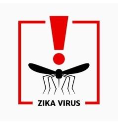 Zika virus alert mosquito icon vector
