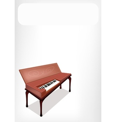 A Retro Clavichord with A White Banner vector image