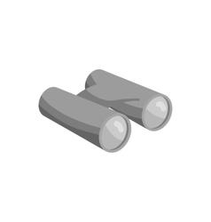 Binoculars icon black monochrome style vector image