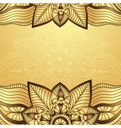 Gold-brown vintage frame vector image