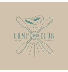 Rafting Camp Club Emblem Design vector image vector image