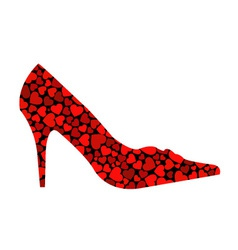 shoe with hearts vector image