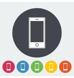 Smartphone single icon vector image vector image
