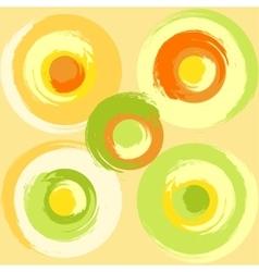 Big grunge multicoloured circles vector image