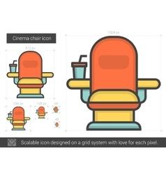 Cinema chair line icon vector