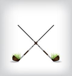 Golf stick vector image