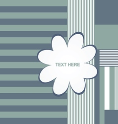 banner flower empty in blue color text vector image vector image