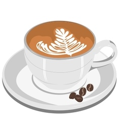 Cappuccino Coffee cup vector image