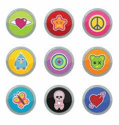 Funky buttons vector